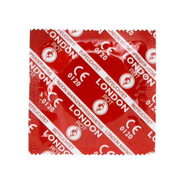 LONDON Rot (Erdbeere) Kondome | 100 Stück